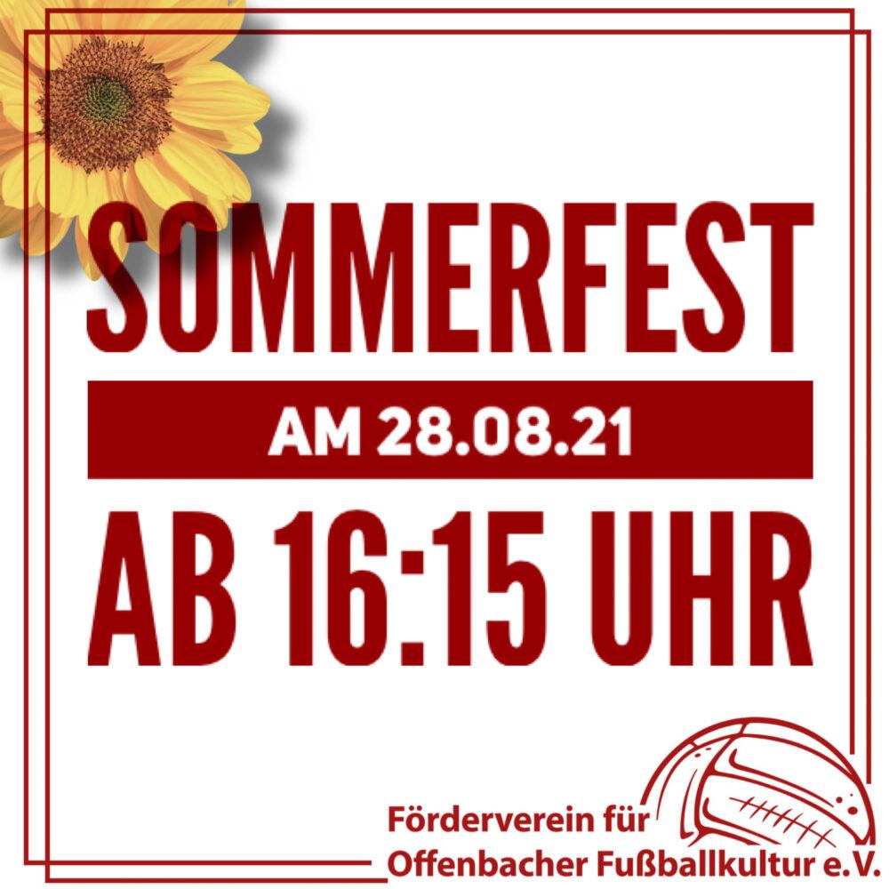 Sommerfest am 28.08.21